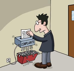 Cartoon about male office worker